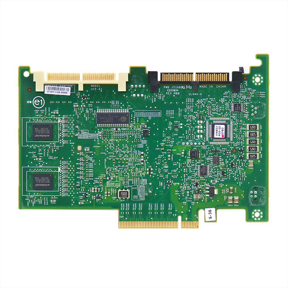 Placa controladora dell sas perc 6i dual 256mb 0t954j - usado