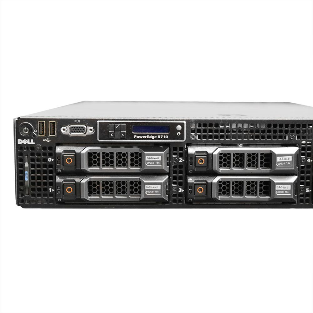 Servidor Dell Power Edge R710 E5530 48gb 300gb - Usado
