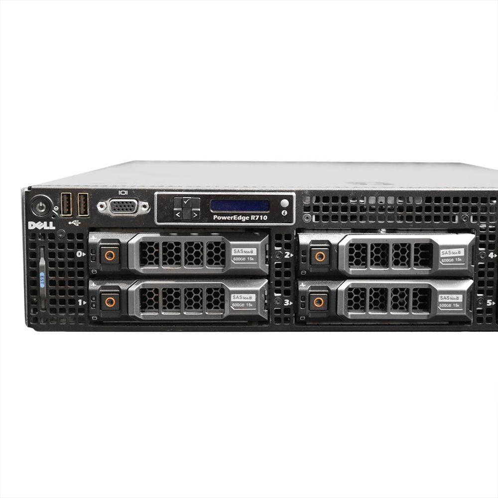 Servidor Dell PowerEdge R710 2x Xeon X5660 96GB 2TB - Usado
