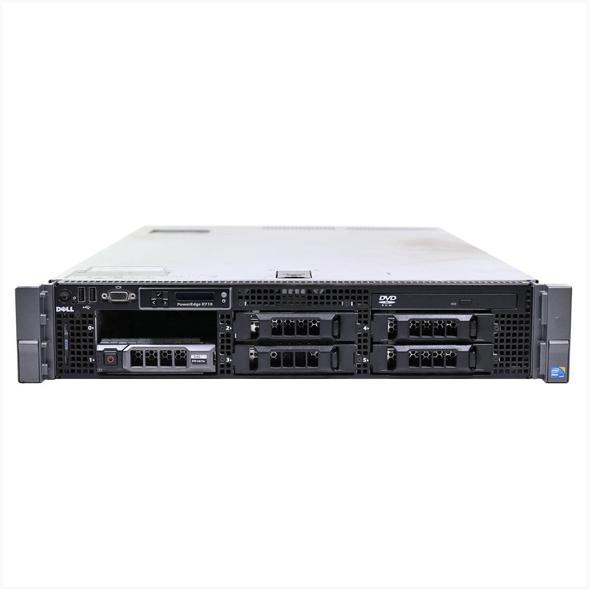 Servidor dell r710 2x xeon x5570 64gb 1x 2tb sas - usado