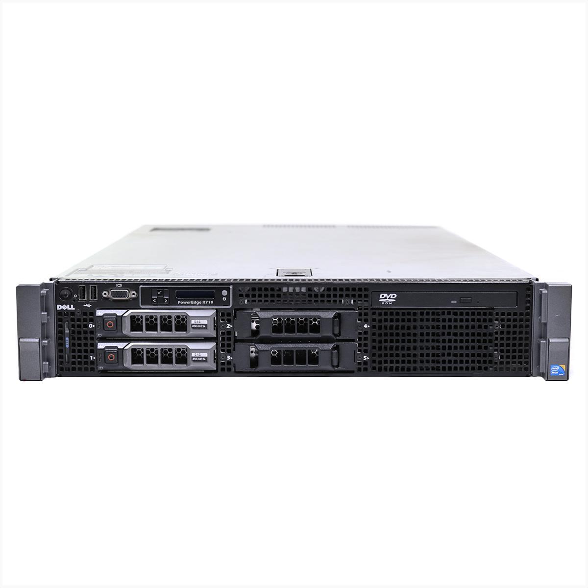 Servidor dell r710 2x xeon e5620 64gb 2x 1tb sas - usado