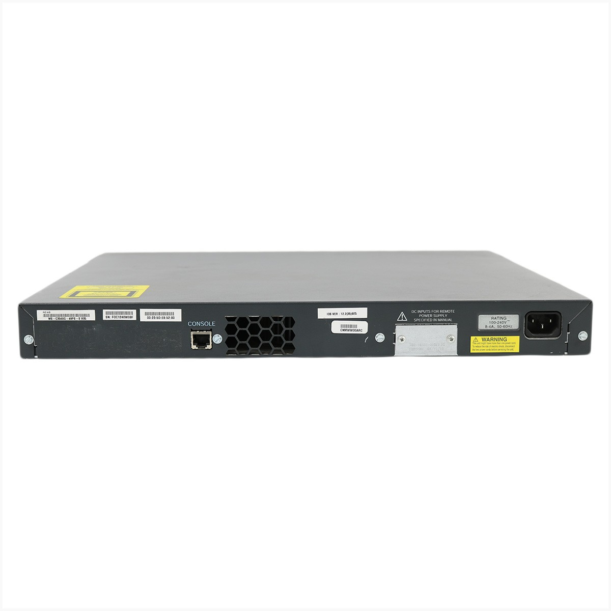 Switch ws-3560-48ps-s 48 portas poe - usado