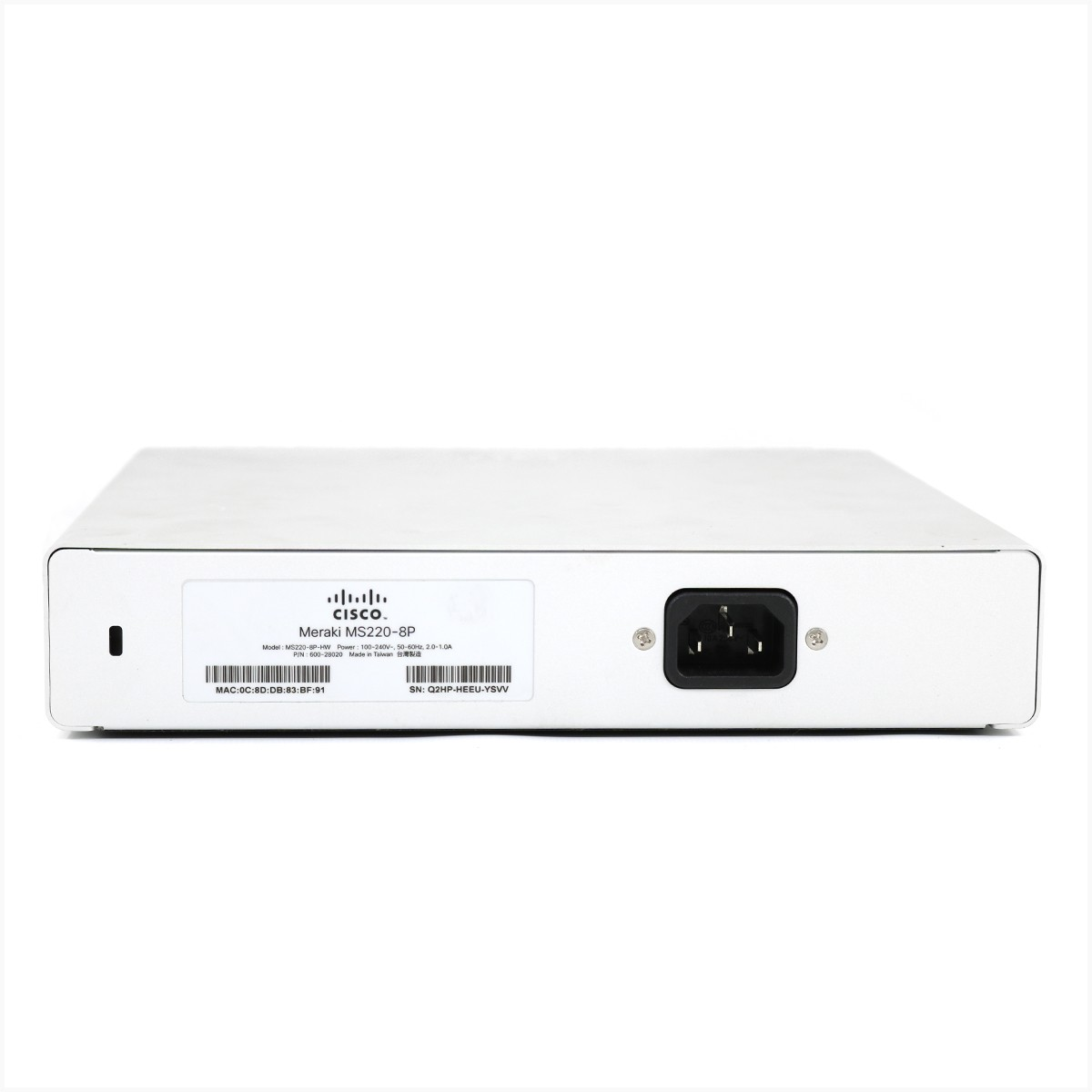 Switch cisco meraki ms220-8p - usado