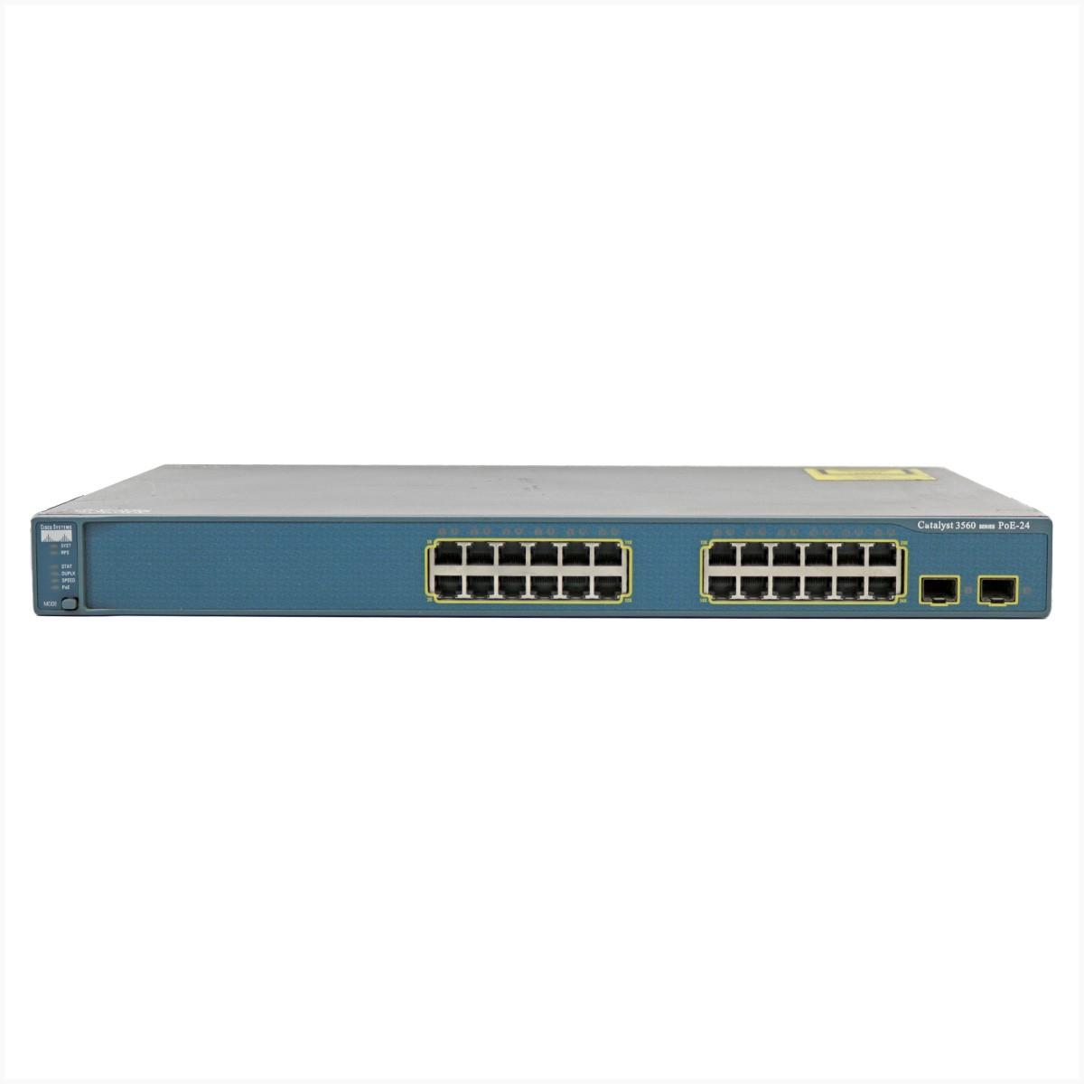 Switch cisco ws-3560-24ps-s gigabit 24 portas - usado