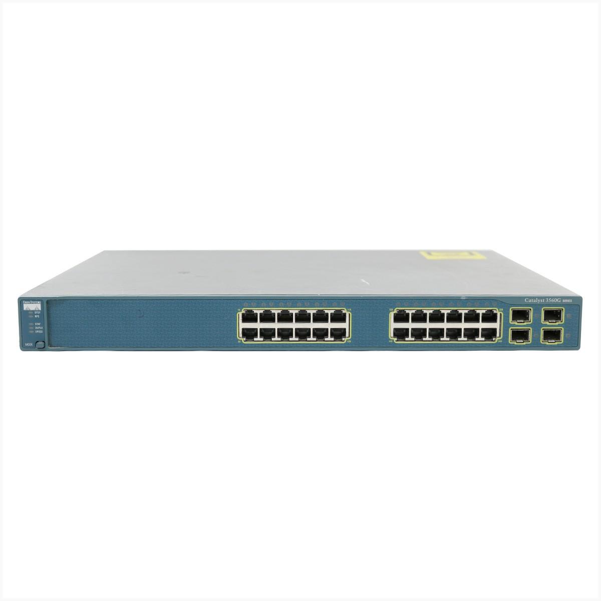 Switch cisco ws-c3560g-24ts-s 24 portas poe - usado