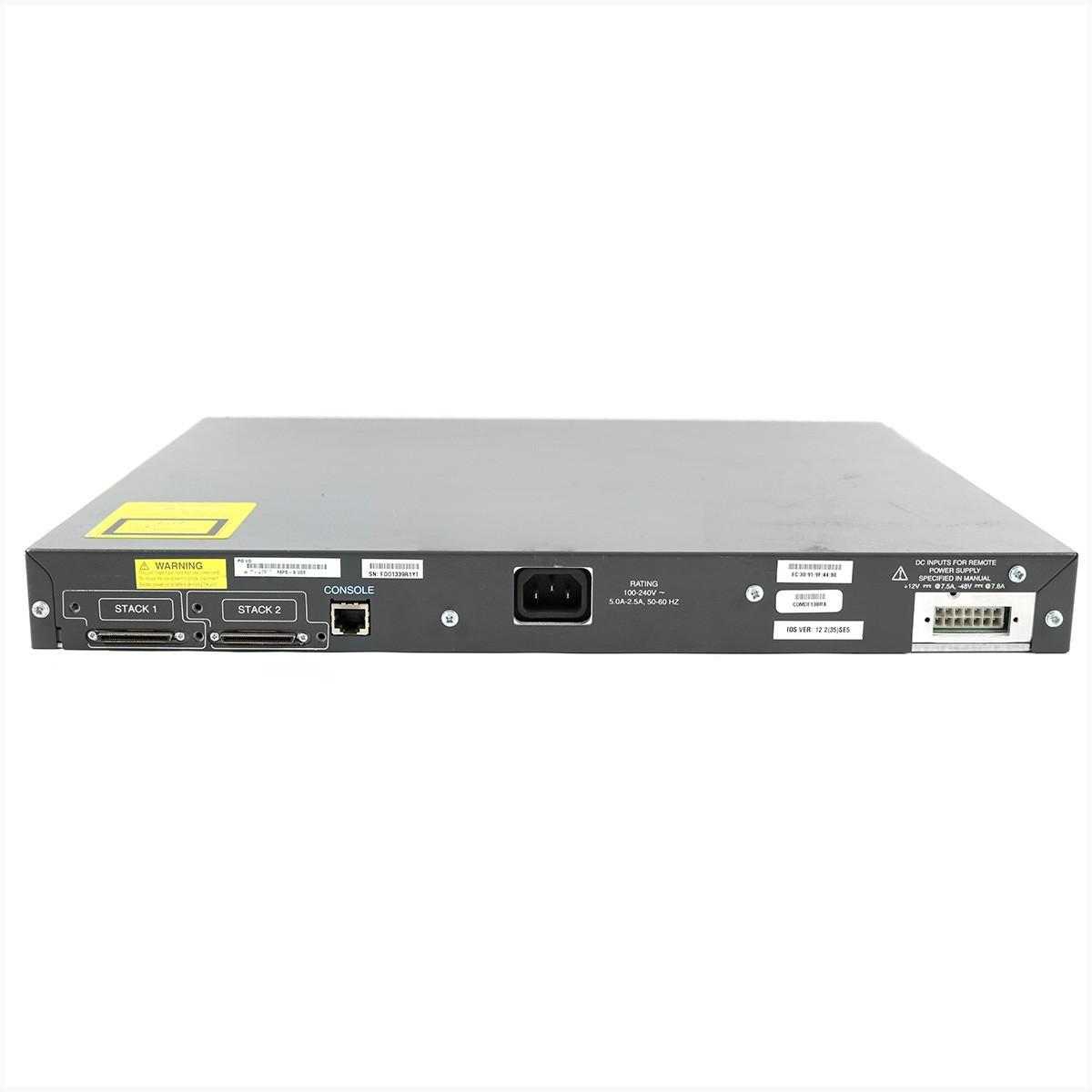 Switch cisco ws-c3750-48ps-s 48 portas gigabit - usado