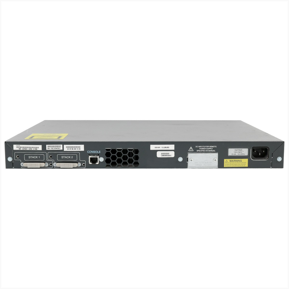 Switch cisco ws-c3750g-24ps-s 24 portas poe - usado