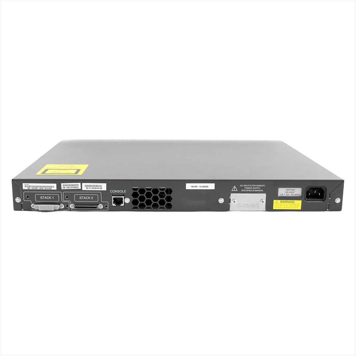 Switch cisco ws-c3750g-24ts 24 portas gigabit - usado