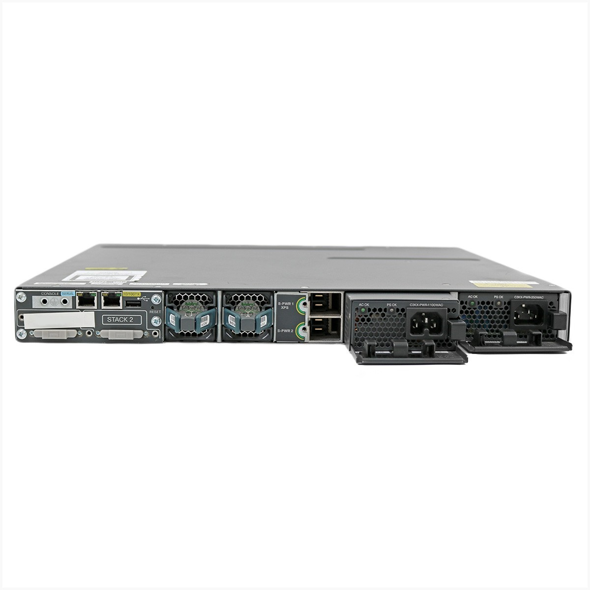 Switch cisco ws-c3750x-48t-s v04 gigabit 48 portas - usado