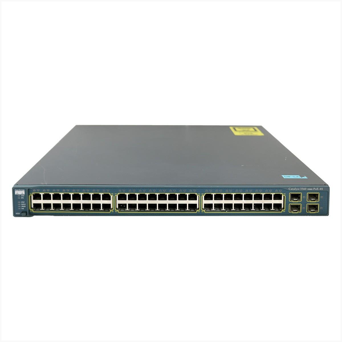 Switch cisco ws-3560-48ps-s - 48x 10/100 - usado