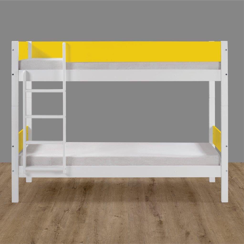 Beliche Branco Laca com Amarelo Fit Color