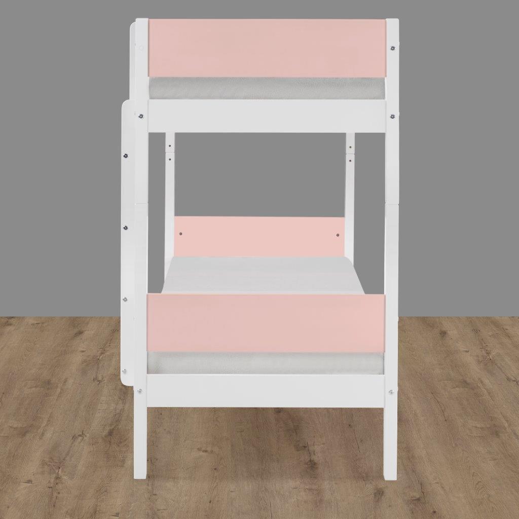 Beliche Branco Laca com Rosa Fit Color
