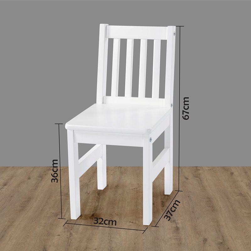 Cadeira Infantil Fun Branco Laca em madeira maciça