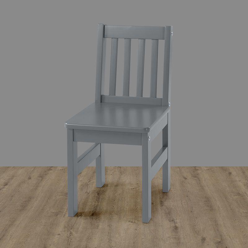 Cadeira Infantil Fun Cinza Laca em madeira maciça
