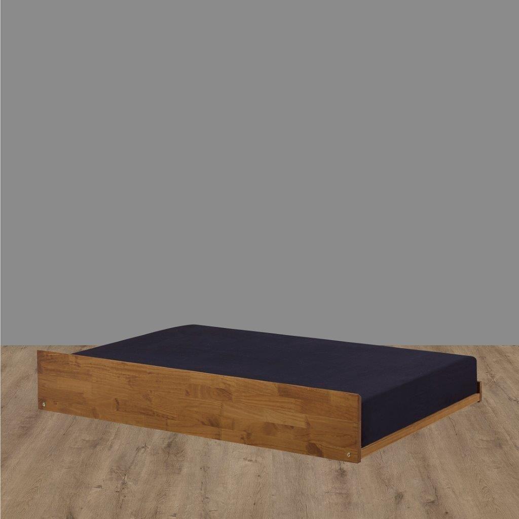 Cama Auxiliar 78 cm Bicama Madeira Maciça + Tapa Vista frontal Beliche