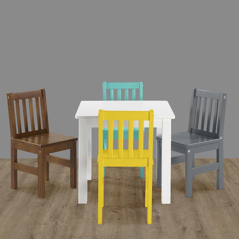 Mesa Infantil Fun Branco Laca em madeira maciça e tampo em MDF