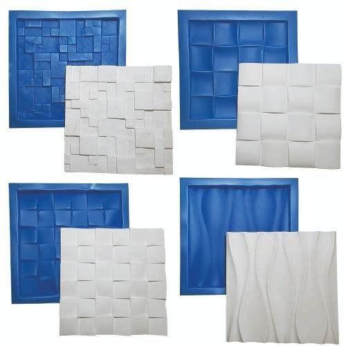 Kit 4 Formas Gesso 3d Borracha E Plástico Placa Lindíssimas