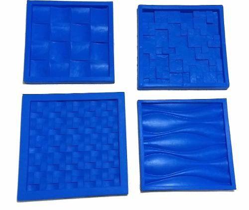 Kit 4 Formas de Silicone Gesso para Paredes 3D