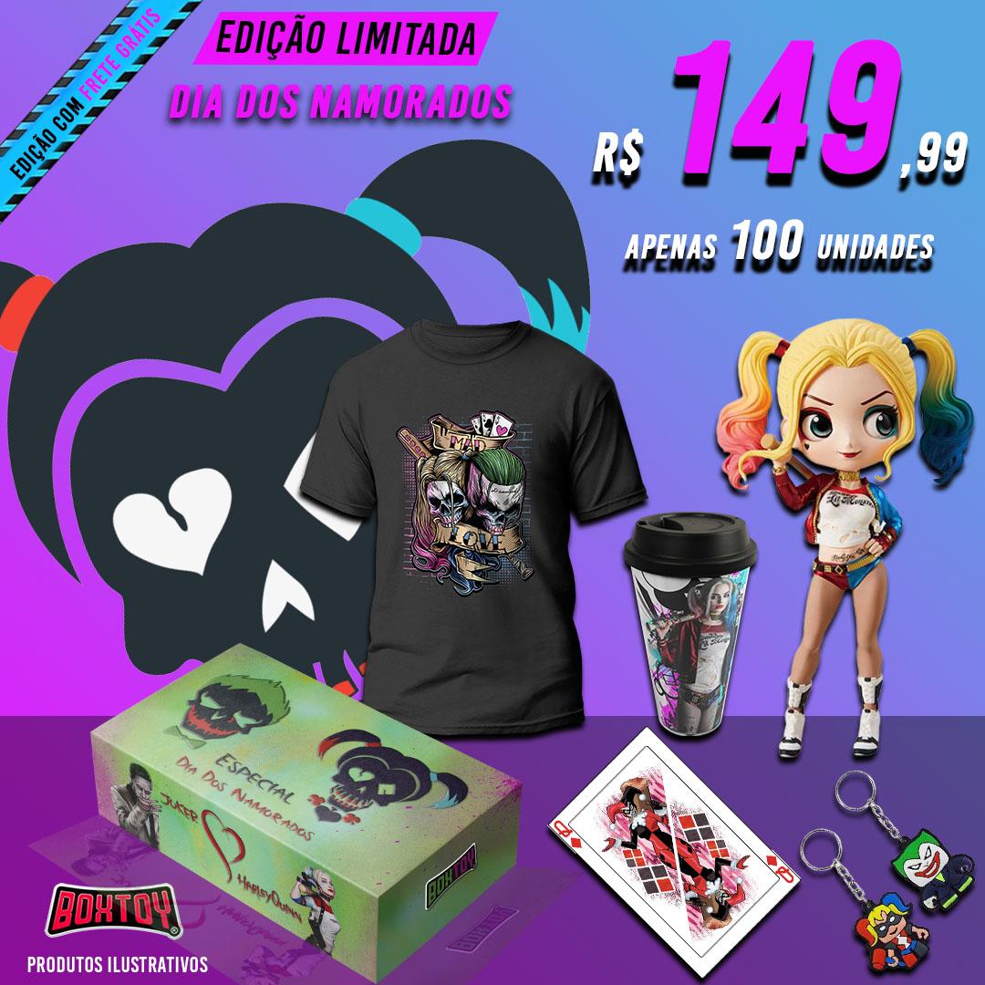 BoxToy edição limitada dia dos namorados Arlequina