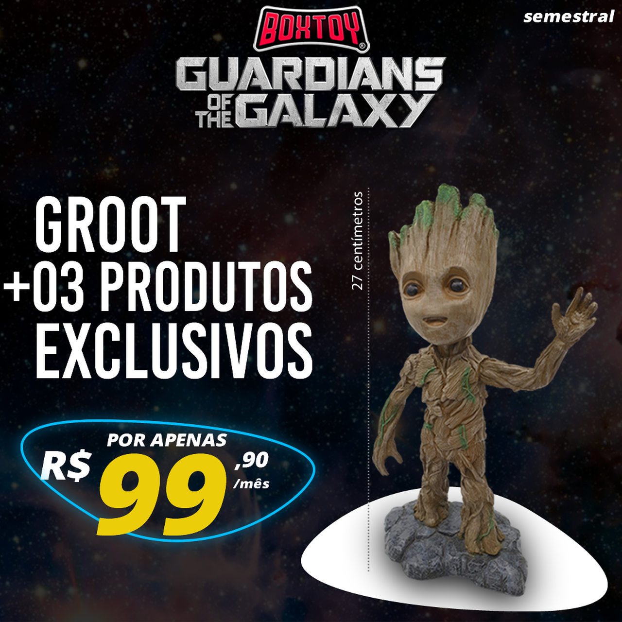 Boxtoy Edição Guardiões da galáxia SEMESTRAL  - Boxtoy