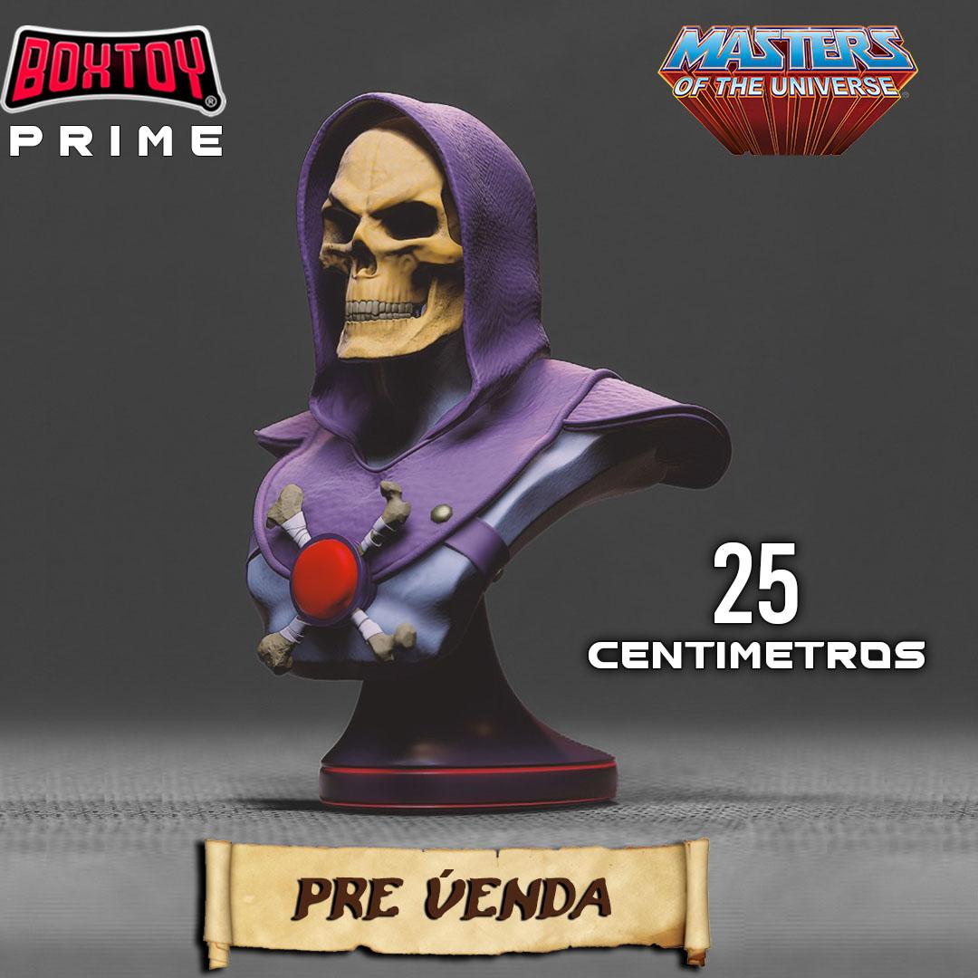 Pré venda Box prime He-man, estatua do Caveira 25cm - Anual