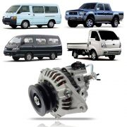 Alternador Hyundai H100 Mitsubishi L300 L200 Bongo K2500 com Bomba 1993 94 95 96 97 98 99 00 01 02 03 04 05 06 07 08 09 10 11 12