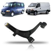 Balança Inferior Lado Esquerdo com Pivo 24mm Renault Master 2002 2003 2004 2005 06 07 08 09 10 11 12 13