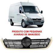 Grade com Moldura Branca COM AVARIAS Mercedes Benz Sprinter CDI 313/413 2002 2003 2004 2005 2006 2007 2008 2009 2010 2011 2012