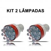 Kit com 2 Lampadas de Ré Com Sinal Sonoro e Luminoso