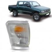 Pisca Seta Dianteiro Moldura Cinza Lado Direito Toyota Hilux 1992 1993 1994 1995 1996 1997 1998