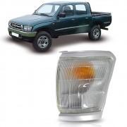 Pisca Seta Dianteiro Moldura Cinza Lado Esquerdo Toyota Hilux 1992 1993 1994 1995 1996 1997 1998