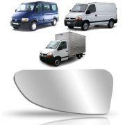 Refil Pequeno do Retrovisor Lado Esquerdo Renault Master 2005 2006 2007 2008 2009 2010 2011 2012 2013
