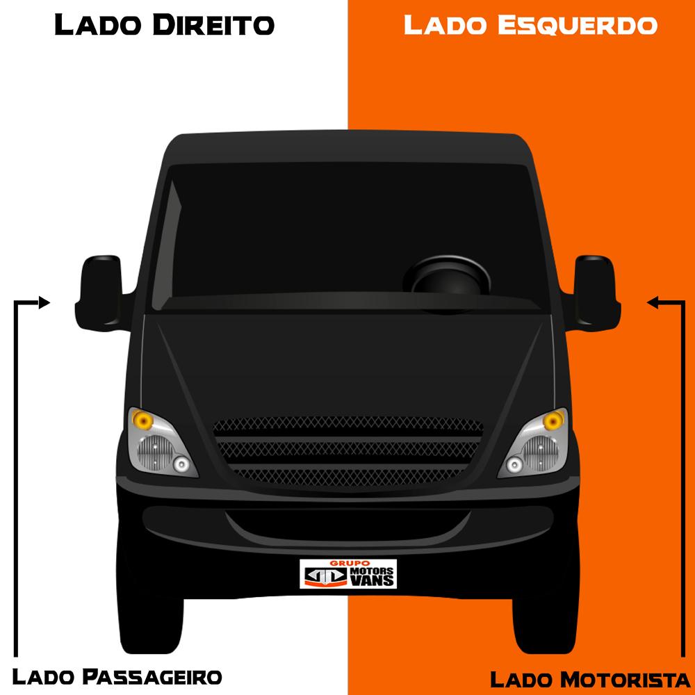 BIELETA DIANTEIRA LADO DIREITO MERCEDES BENZ SPRINTER 311/ 415/ 515 2012 2013 2014 2015 2016 2017 2018 2019