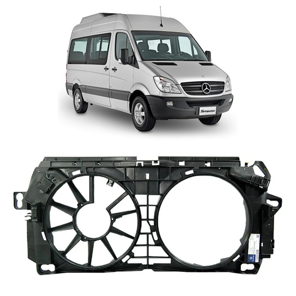 Defletor Radiador Ar Condicionado 1 Hélice da Sprinter 415 515 2012 2013 2014 2015 2016 2017 2018 2019
