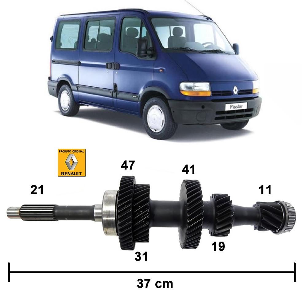 Eixo Piloto Original Renault Master 2.8 Turbo (C/Amostra) 2002 2003 2004 2005 2006 2007 2008 2009