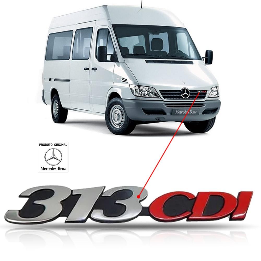 Emblema da Grade Original Mercedes Benz Sprinter 313 Cdi 2002 2003 2004 2005 2006 2007 2008 2009 2010 2011 2012