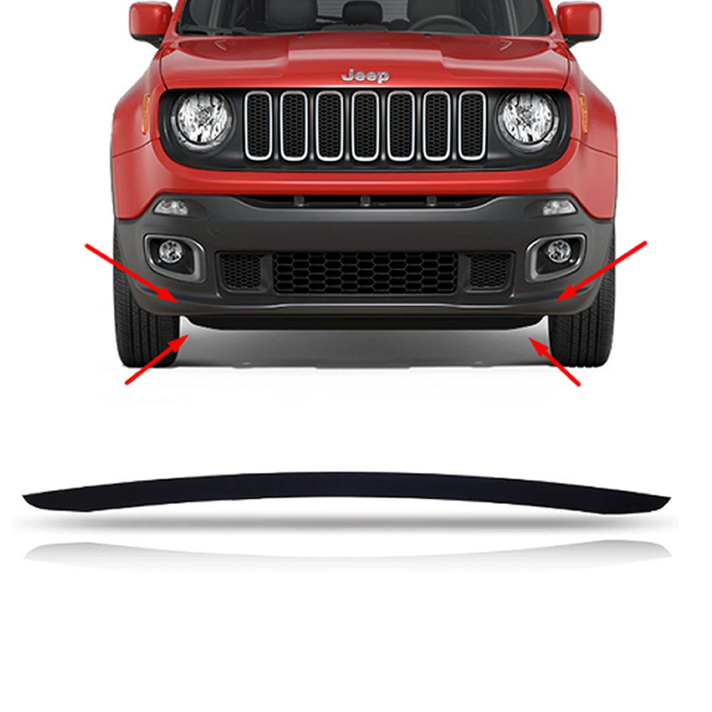 Friso Régua do Parachoque Dianteiro Jeep Renegade Flex 2016 2017 2018 2019 2020