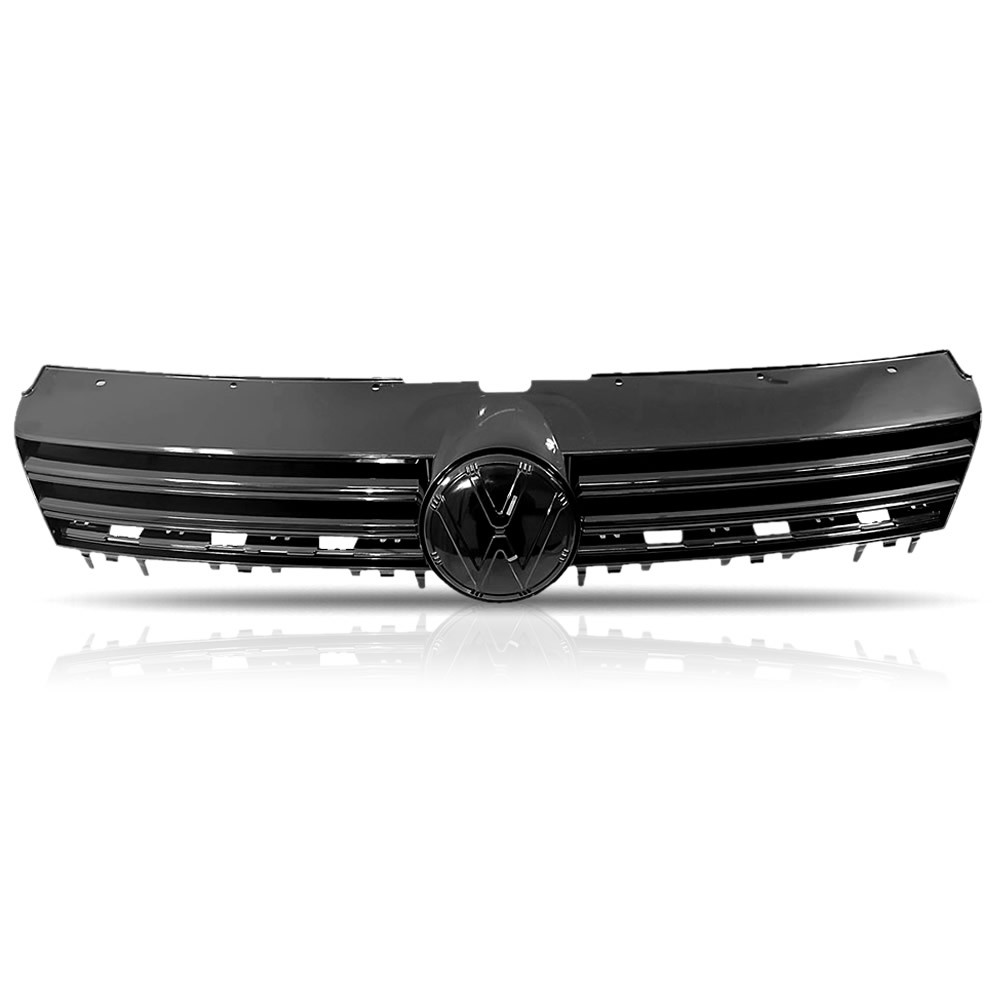 Grade Dianteira Black Piano (Brilho) Volkswagen Fox 2013 2014 2015