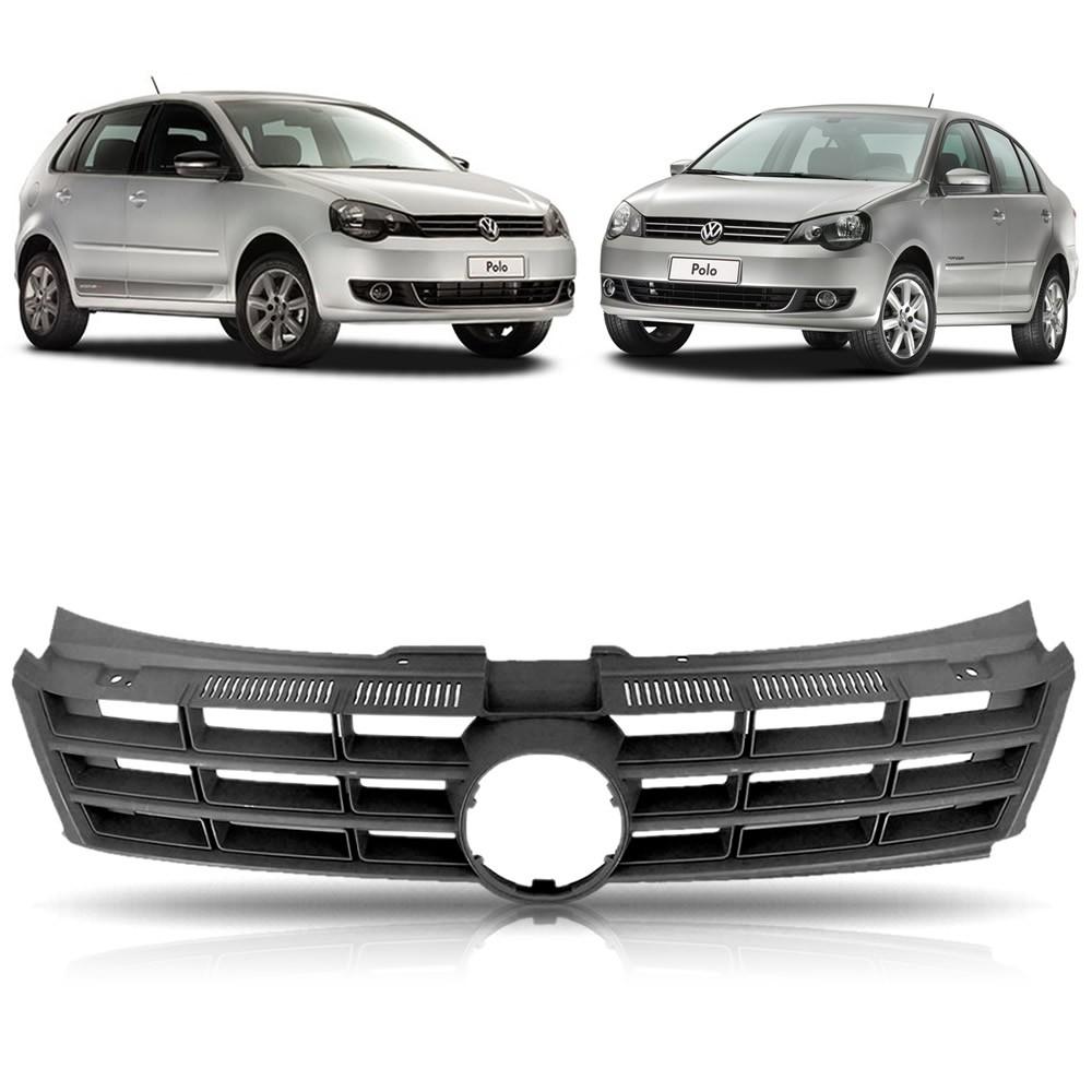 Grade Dianteira Texturizada Volkswagen Polo 2012 2013 2014 2015 2016 (Item com Encaixe para Frisos)