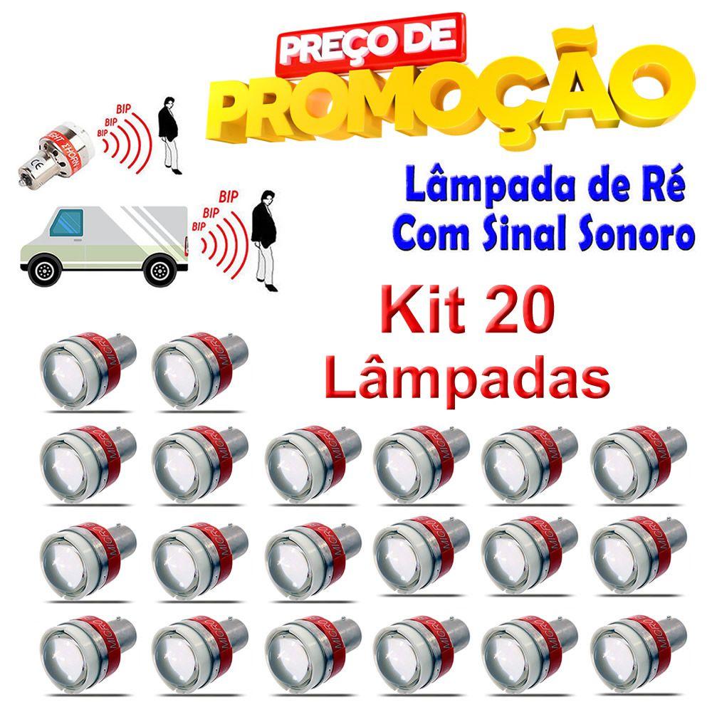 Lampadas de Ré com Sinal Sonoro e Luminoso 12v - (Kit 20 Unidades)