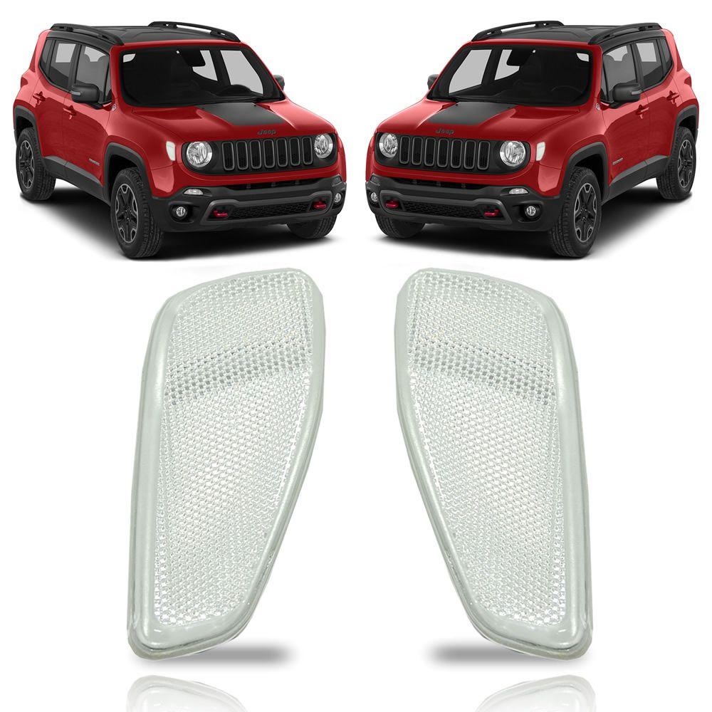 Kit Olho de Gato Branco Jeep Renegade 2015 2016 2017 2018 2019 2020