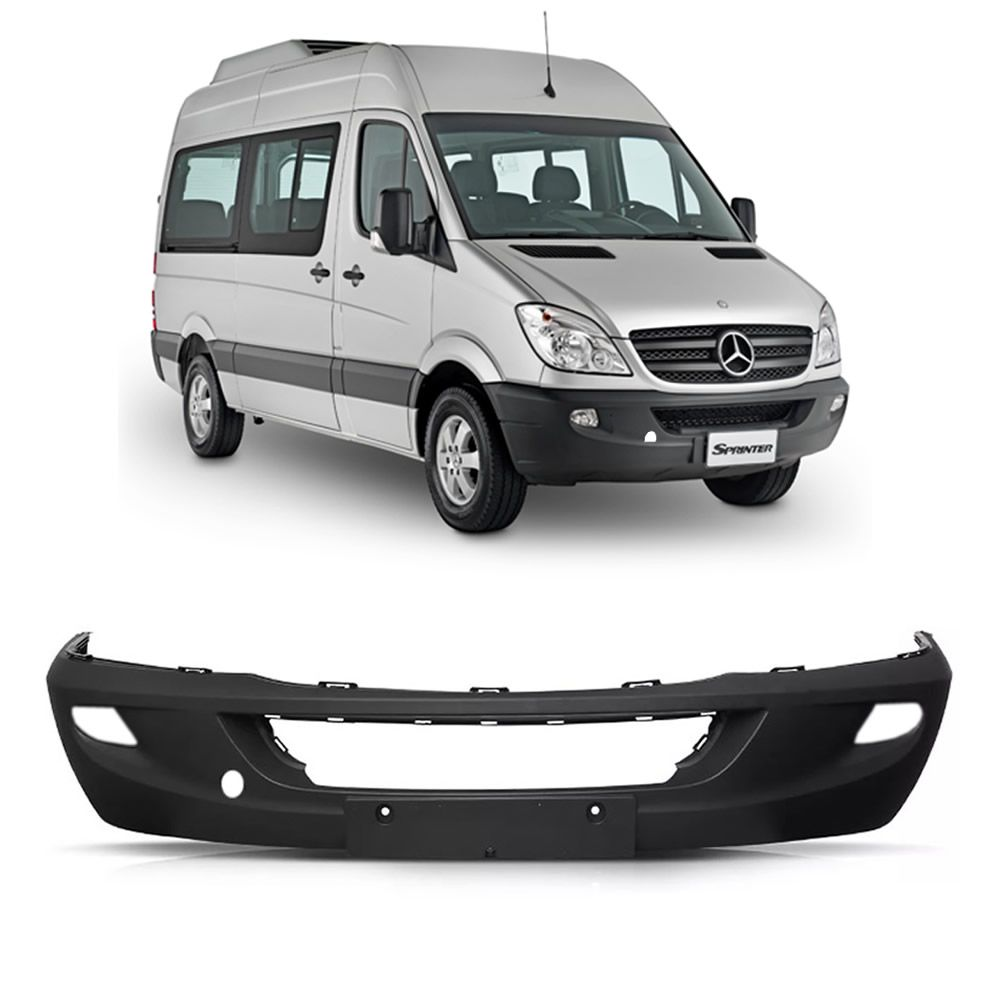 Parachoque Mercedes Benz Sprinter 311 415 515 2012 2013 2014 2015 Com Furo