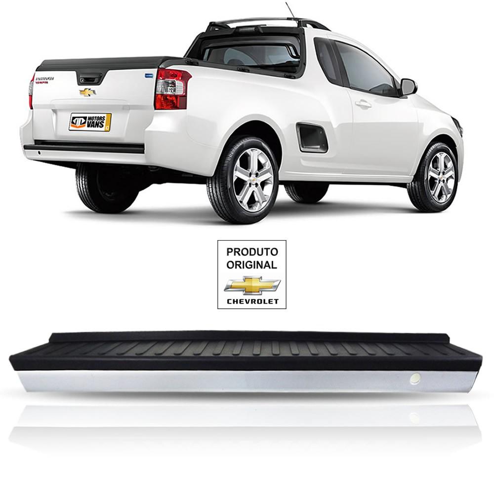 Parachoque Traseiro Cor Branca Com Pisante Original Chevrolet Montana 2012 2013 2014 2015 2016 2017 2018 2019 2020
