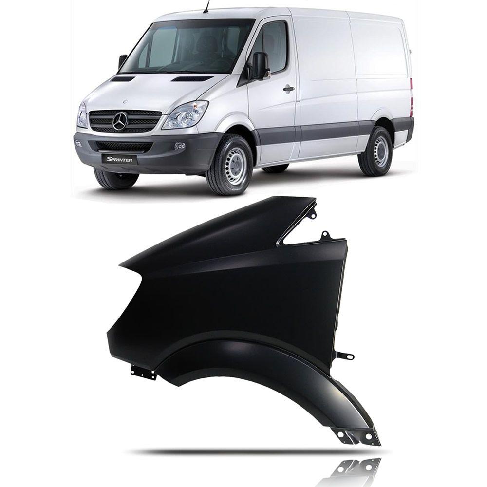 Paralama Lado Esquerdo Mercedes Benz Sprinter 311/313/415/515 2012 2013 2014 2015 2016 Sem Furo
