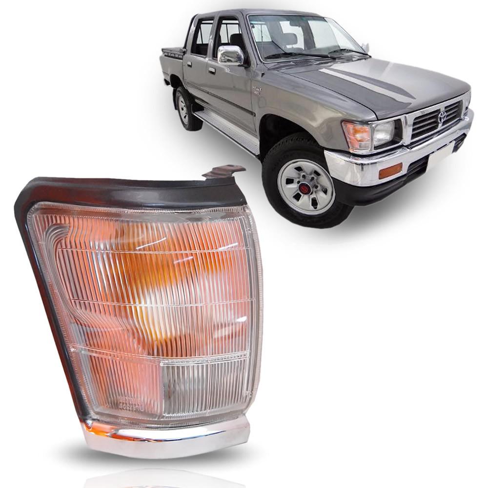Pisca Dianteiro Moldura Cromada Lado Direito Toyota Hilux 1992 1993 1994 1995 1996 1997 1998