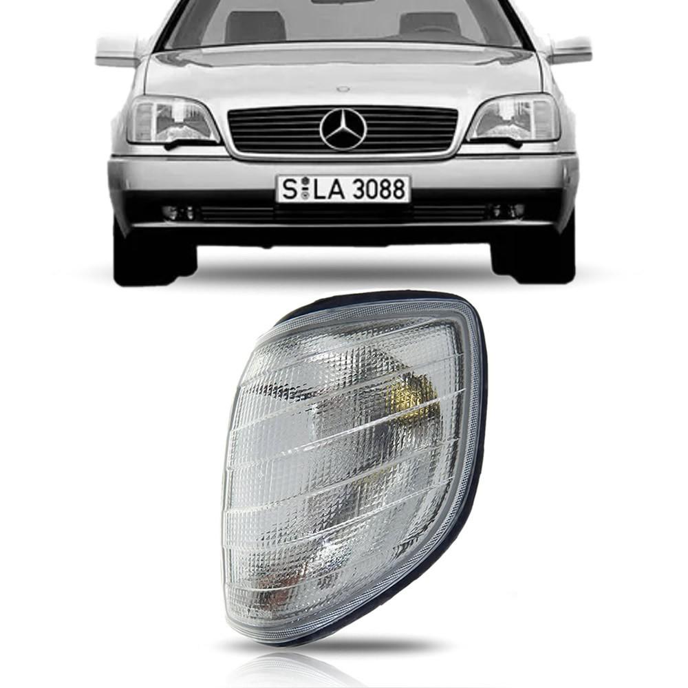 Pisca Seta Dianteiro Lado Esquerdo Branco Mercedes Benz C140 1993 1994 1995 1996 1997 1998