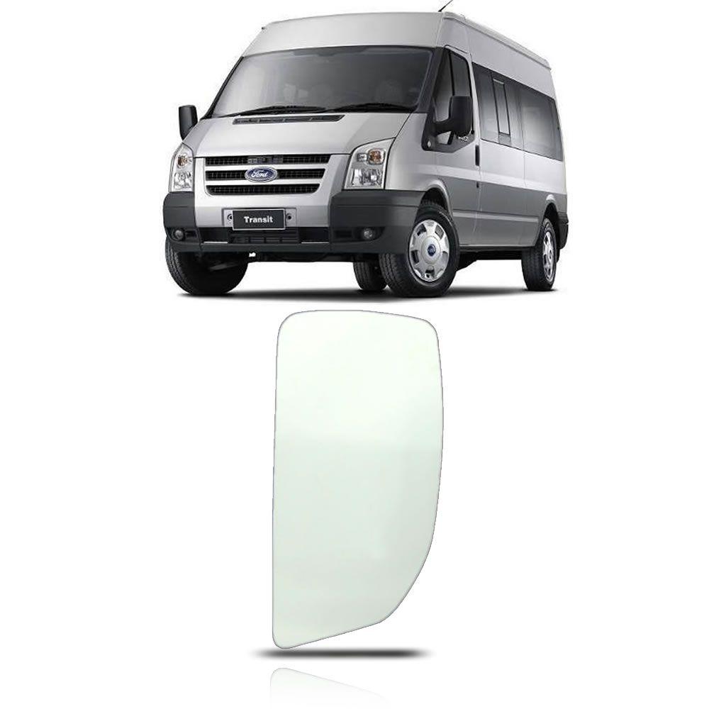 Refil Grande do Retrovisor Lado Esquerdo Ford Transit 2008 2009 2010 2011 2012 2013 2014 2015 2016 2017 2018