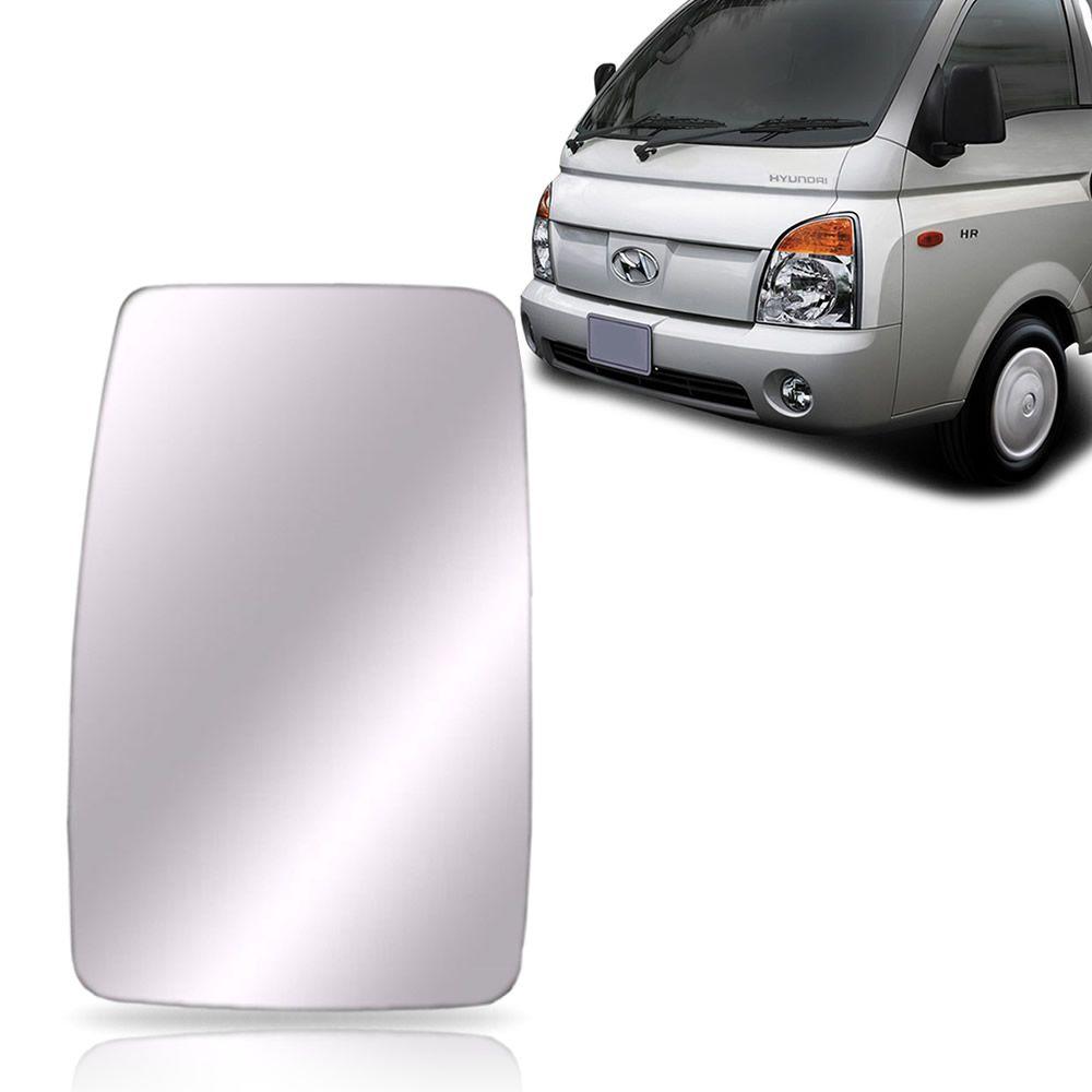 Refil Lente Espelho do Retrovisor Lado Esquerdo Hyundai HR 2004 2005 2006 2007 2008 2009 2010 2011 2012
