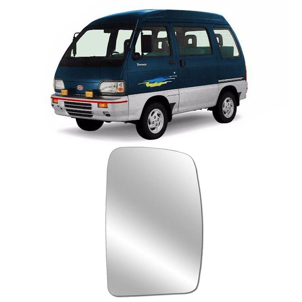 Refil Lente Espelho Lado Esquerdo do Retrovisor da Towner 1993 1994 1995 1996 1997 1998 1999