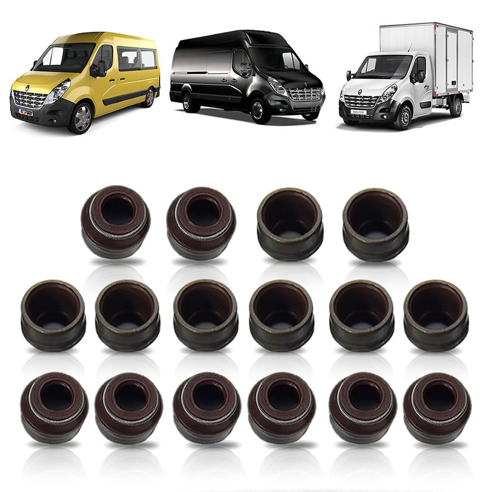 Retentor de Válvulas (Jogo 16 Unidades) Renault Master 2.3 2.3 2014 2015 2016 2017 2018 2019 2020 2021